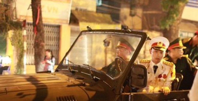 Quân đội, công an tập dượt trước nhà tang lễ Quốc gia