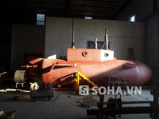 """Cận cảnh tàu ngầm """"made in Vietnam"""" Trường Sa-1"""