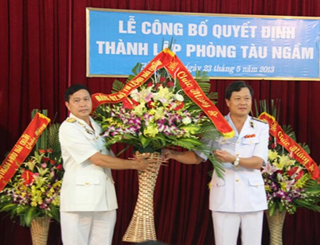 Chính thức thành lập Phòng tàu ngầm Hải quân Việt Nam