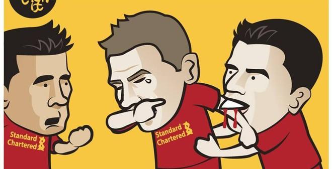Ảnh chế: Lý do thật sự khiến Gerrard khóc!