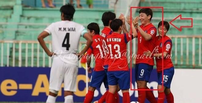 Ảnh chế: Nữ hay nam cầu thủ đây Hàn Quốc?