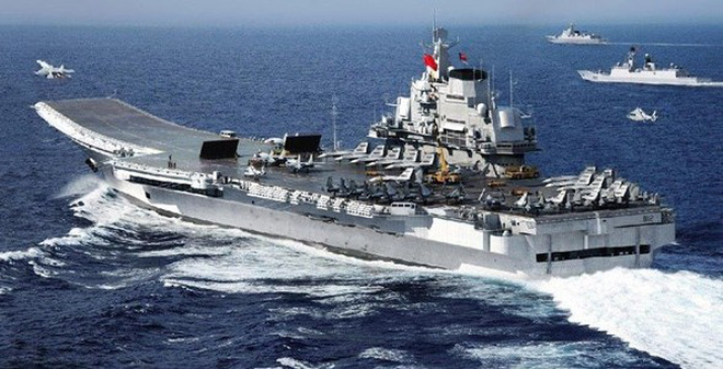 Hai phi công Trung Quốc tử nạn trên tàu sân bay Liêu Ninh