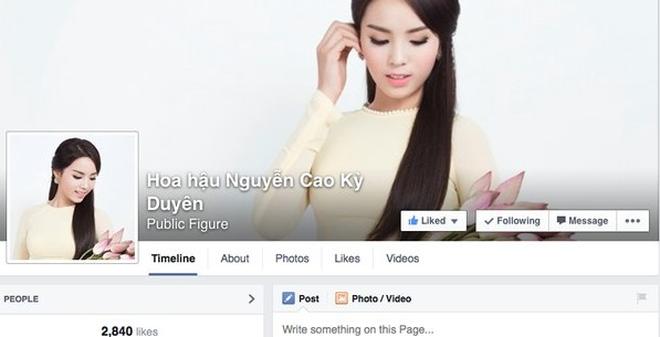 """Hoa hậu Kỳ Duyên """"trở lại"""" Facebook sau khi đăng quang"""