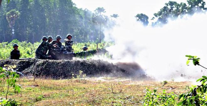 [Ảnh] Pháo phòng không 37mm Lữ đoàn 226 nhả đạn, diệt mục tiêu