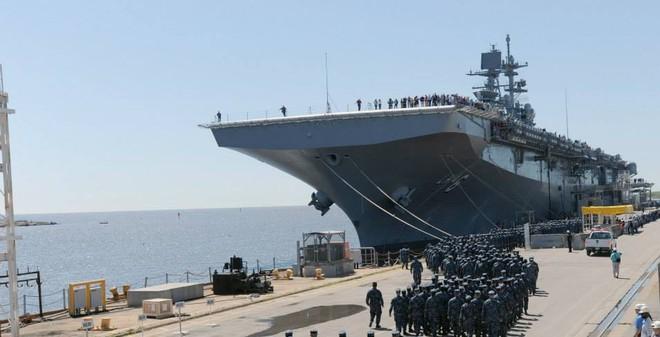 Chiêm ngưỡng siêu tàu đổ bộ Hải quân Mỹ vừa tiếp nhận