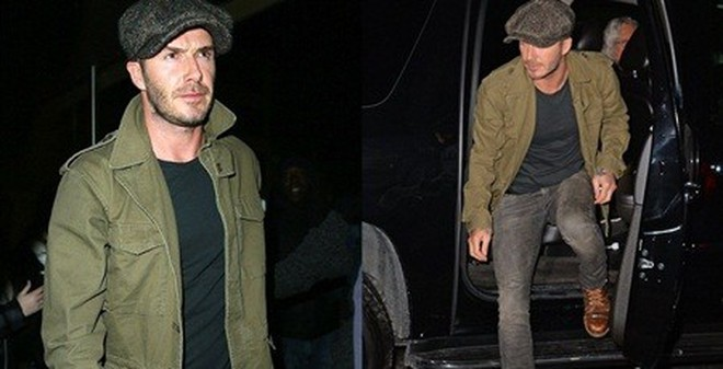 Beckham diện đồ theo vẻ phong trần đi xem bóng rổ