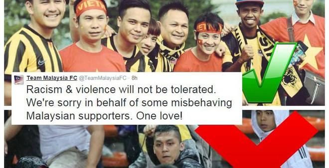 CĐV Malaysia gửi lời xin lỗi Việt Nam sau vụ bạo lực trên SVĐ
