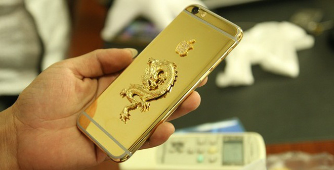 """iPhone 6 mạ vàng 24K đầu tiên trên thế giới """"trình làng"""""""