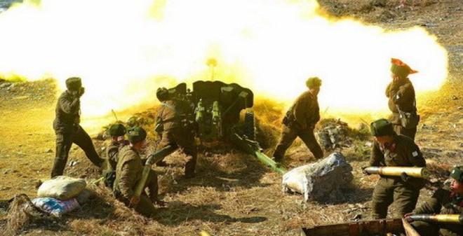 6 video ấn tượng về lực lượng pháo binh đáng sợ của Triều Tiên