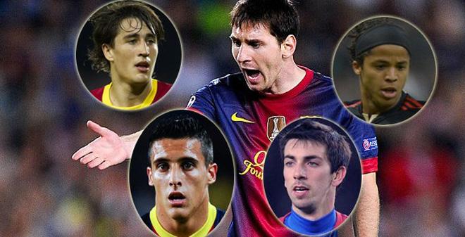 """Những tài năng trẻ """"chết"""" dưới bóng Messi"""