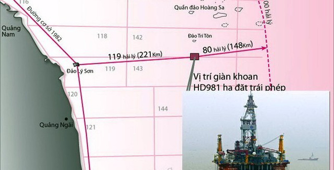 Yêu cầu Trung Quốc rút ngay giàn khoan HD-981 khỏi biển Việt Nam