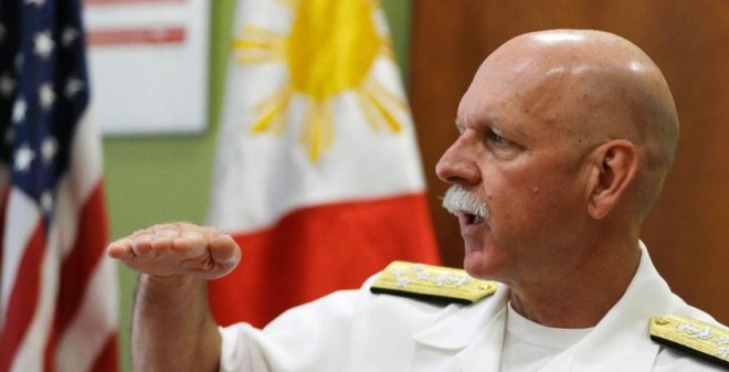 """Đô đốc Mỹ """"cắm"""" ít nhất 4 tàu chiến trên Biển Đông"""