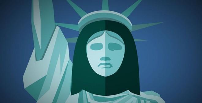 """Bất ngờ tượng Nữ thần Tự do """"thai nghén"""" từ 1 phụ nữ Hồi giáo"""