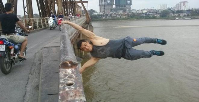 Chàng trai đu cầu Long Biên muốn thực hiện trên tòa nhà Lotte