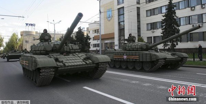 Ly khai Ukraine duyệt binh kỷ niệm 70 năm kết thúc Thế chiến II