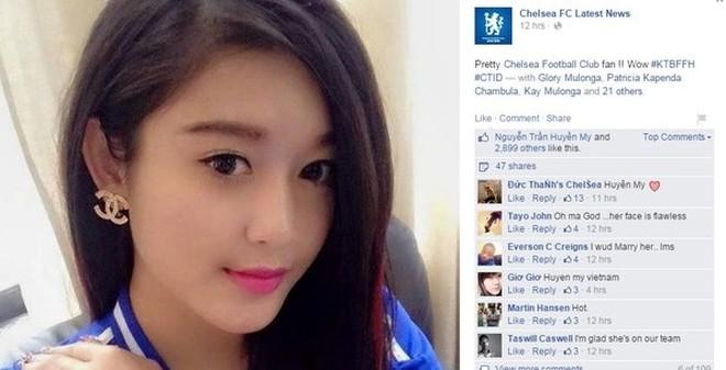 Fanclub Chelsea 7 triệu người like đăng ảnh Á hậu Huyền My