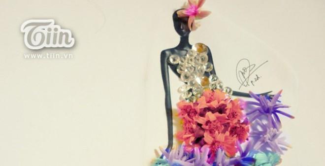 9x điển trai thiết kế thời trang từ hoa cỏ, mì tôm