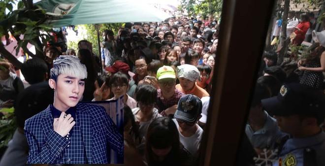 Bảo vệ vất vả hướng dẫn fan của Sơn Tùng M-TP