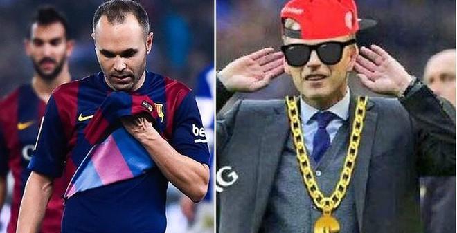 Ảnh vui: Đánh bại Barca, Moyes sắm vòng vàng tự thưởng