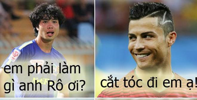 """Ảnh chế: Công Phượng đã bị Ronaldo """"bẫy"""" thế nào?"""