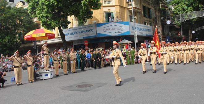 Những hình ảnh CSGT Hà Nội tại buổi lễ Quốc Khánh 2-9