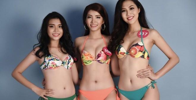Hậu trường bikini nóng bỏng của Hoa hậu Hoàn vũ Việt Nam 2015
