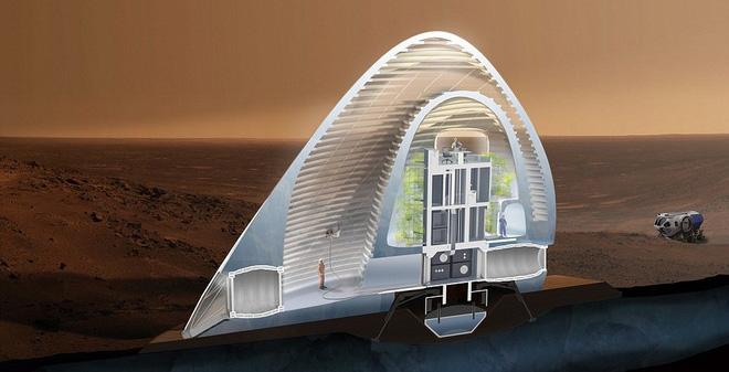 Chiêm ngưỡng nhà trên sao Hỏa: Giống như lâu đài băng!