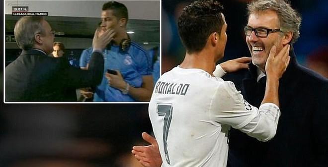 """Bị ông chủ Real """"tát yêu"""", Ronaldo quay sang """"âu yếm"""" HLV PSG"""