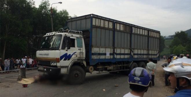 Xe chở dăm gỗ tông chết 4 người trong một gia đình