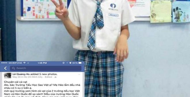 TP.HCM: HS lớp 2 bị đuổi học vì mẹ dám chê cà vạt của trường