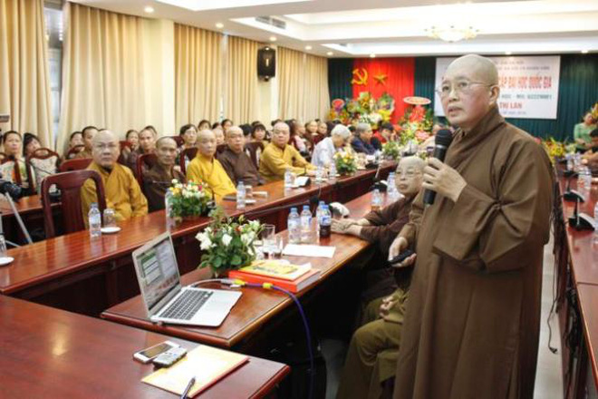 Trụ trì chùa Bồ Đề bảo vệ xuất sắc luận án Tiến sỹ - Ảnh 1.