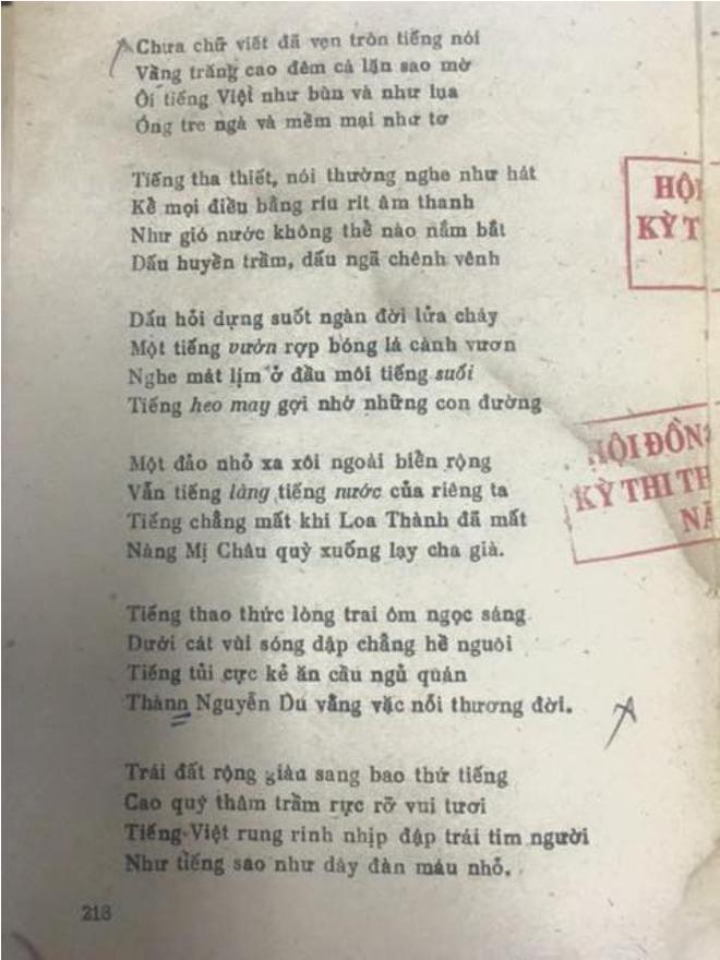 Bộ GD&ĐT lên tiếng về câu thơ gây tranh cãi trong đề thi Văn - Ảnh 2.