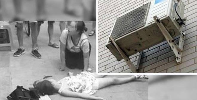 Cục nóng điều hòa bất ngờ rơi xuống đất, trúng người bé 8 tuổi