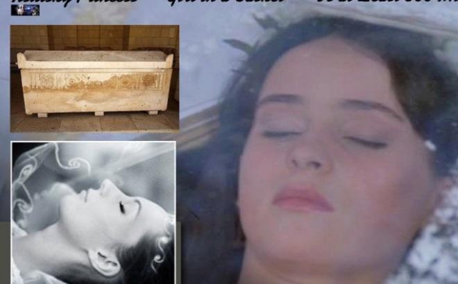Phát hiện công chúa trong quan tài, da vẫn hồng hào và chỉ như đang ngủ