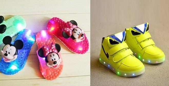 Nguy hại khôn lường từ loại giày dép phát âm thanh và ánh sáng