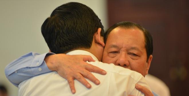 Ông Lê Thanh Hải bật khóc khi nhắc đến ông Võ Văn Thưởng