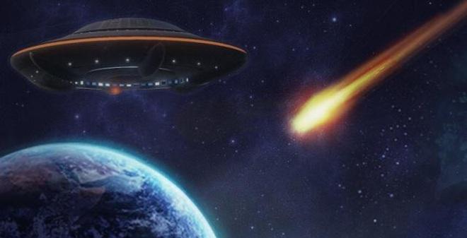 Sốc: UFO bắn hạ sao băng? [Video]