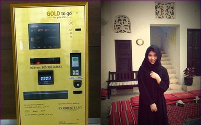 Máy bán hàng tự động bằng vàng