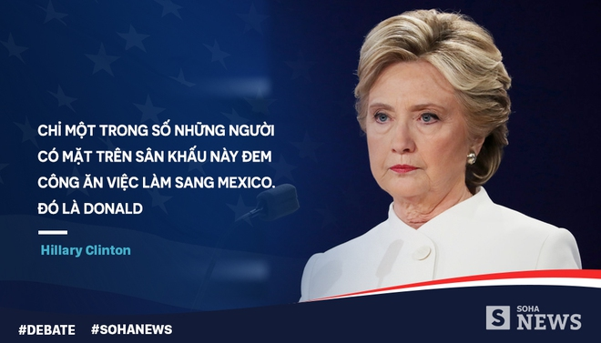 Tranh luận lần cuối, Trump - Clinton dùng mánh võ mồm nào? - Ảnh 3.