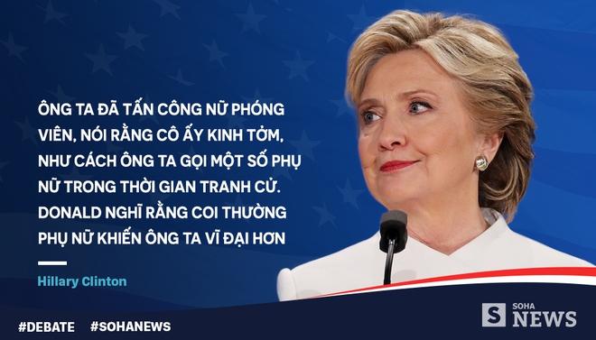 Tranh luận lần cuối, Trump - Clinton dùng mánh võ mồm nào? - Ảnh 9.