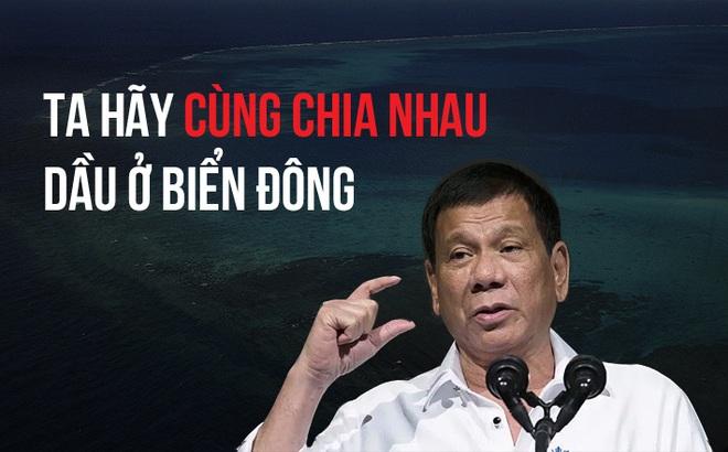 """Duterte rủ rê """"bạn mới"""" Trung Quốc chia chác dầu trên biển Đông"""