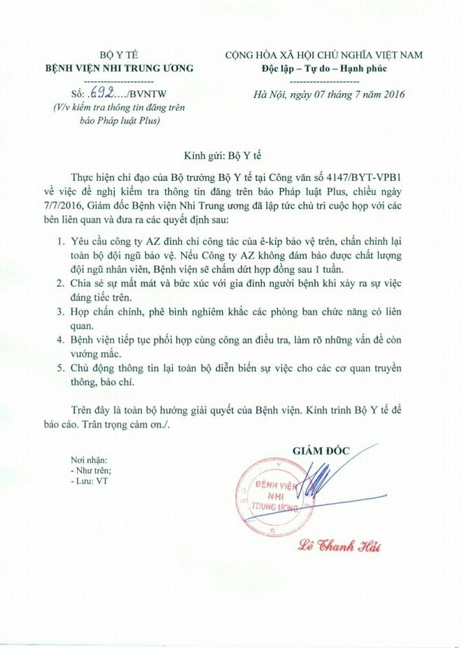 GĐ BV Nhi đề nghị CA làm rõ việc bảo vệ móc ngoặc với xe dù - Ảnh 1.