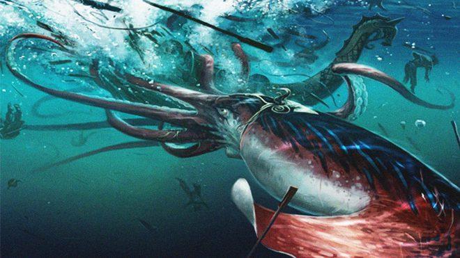 Huyết chiến kinh hoàng giữa mực khổng lồ và cá nhà táng - Ảnh 6.