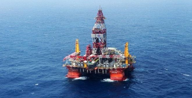 Giàn khoan Hải Dương 981 đang hoạt động ngoài cửa vịnh Bắc Bộ