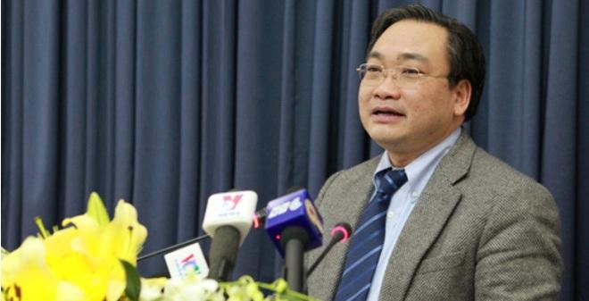 Ông Hoàng Trung Hải phát biểu sau khi nhận chức Bí thư Hà Nội