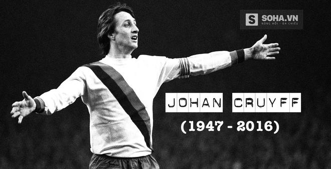 """Thánh Johan Cruyff lại """"chiếm sân chơi"""" khi sang thế giới bên kia"""
