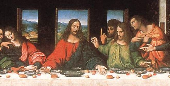"""Trong tranh """"Bữa ăn cuối cùng"""", thực đơn của chúa Jesus là gì?"""