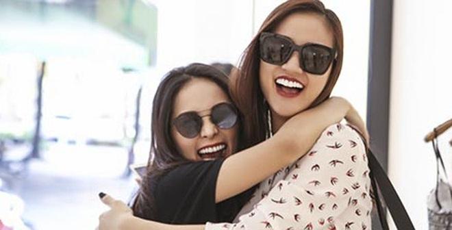 Maya thân thiết với bạn gái Cường Đô la