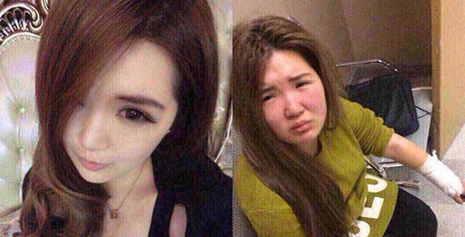 Những màn lộ mặt mộc gây choáng váng của các cô gái xinh đẹp