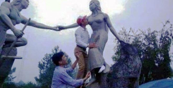 Cán bộ huyện sàm sỡ...tượng nàng Biang